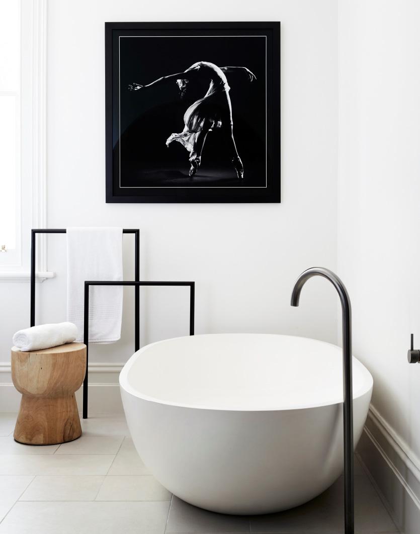 apaiser freestanding Haven bath featured in a white bathroom