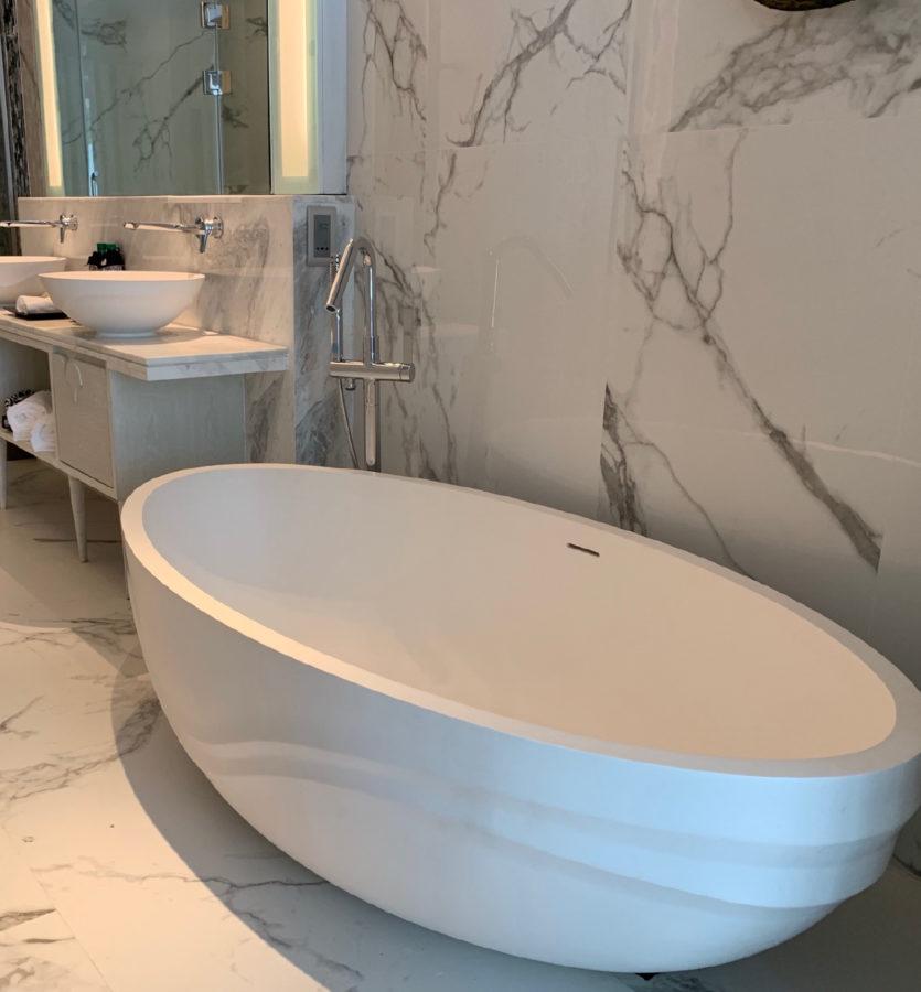 custom freestanding bath by apaiser in Banyan Tree Krabi in Thailand new resort by Banyan Tree Group
